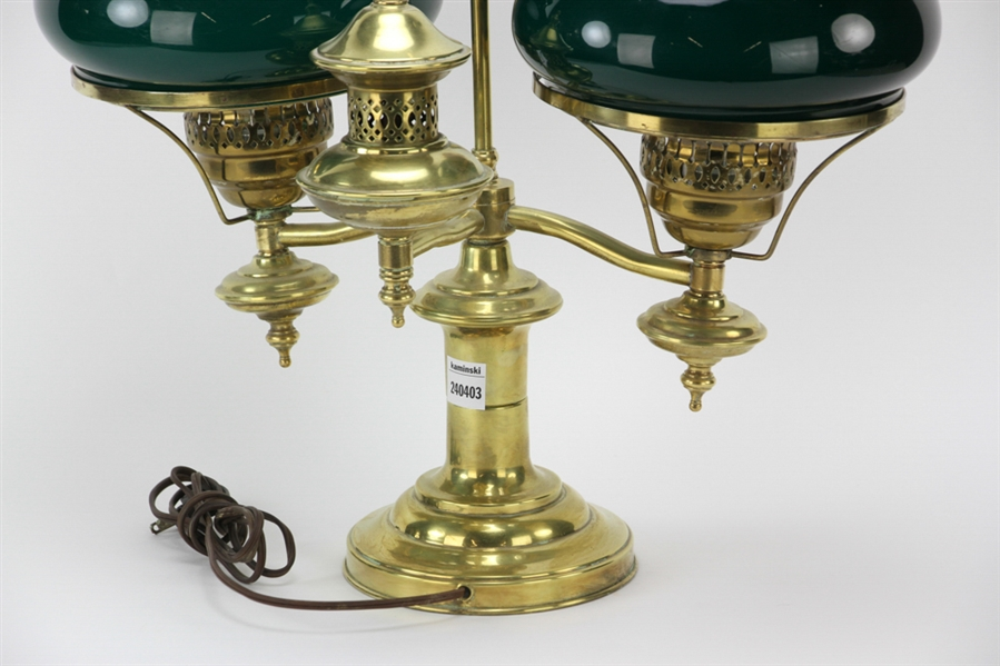 Double Student Brass Lamp