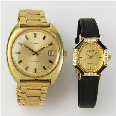 Two Vintage Watches, Bulova and Sollex