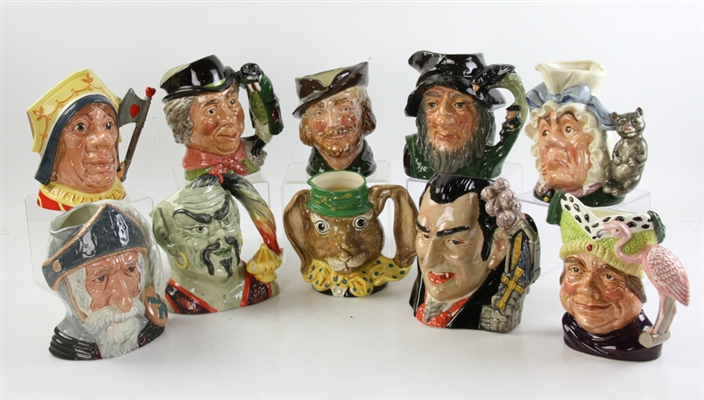 Collection of Royal Doulton Toby Jugs