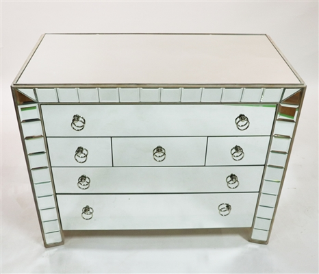 Hollywood Regency Style Mirrored Chest