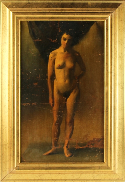 Portrait of a Nude, Oil on Masonite