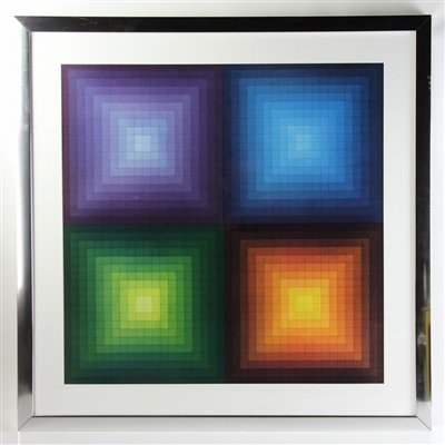 Abstract Print in The Manner of Vasarely
