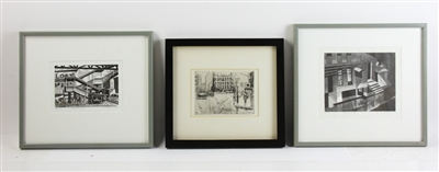 Two Wood Engravings and an Original Print
