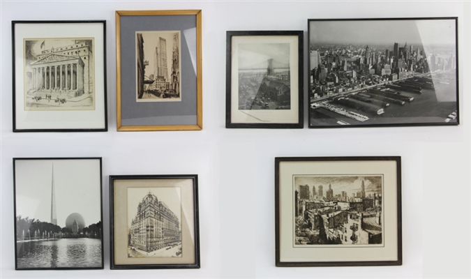 (7) Photographs and Etchings of New York City