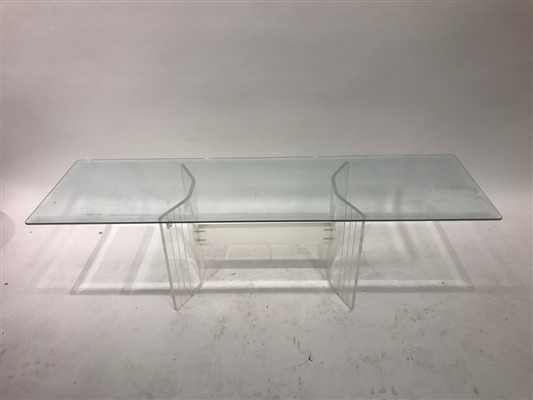 Mid Century Modern Lucite Hall Table