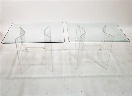 Pair of Mid Century Modern Lucite End Tables