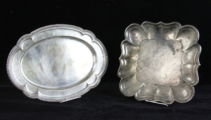 Two Sterling Trays, Gorham, Reed & Barton