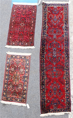 Antique Persian Sarouk Runner w/ Scatter Rugs