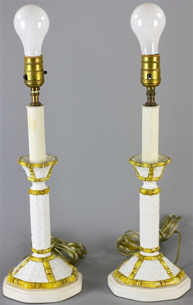 Two Pair of Candlestick Lamps