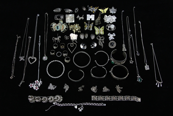 Collection of Miscellaneous Sterling Jewelry