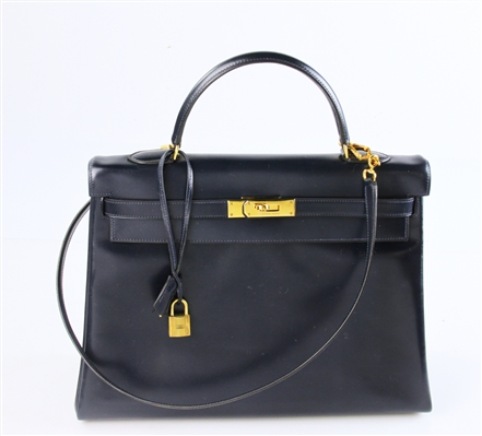 Hermes Navy Blue Kelly Bag