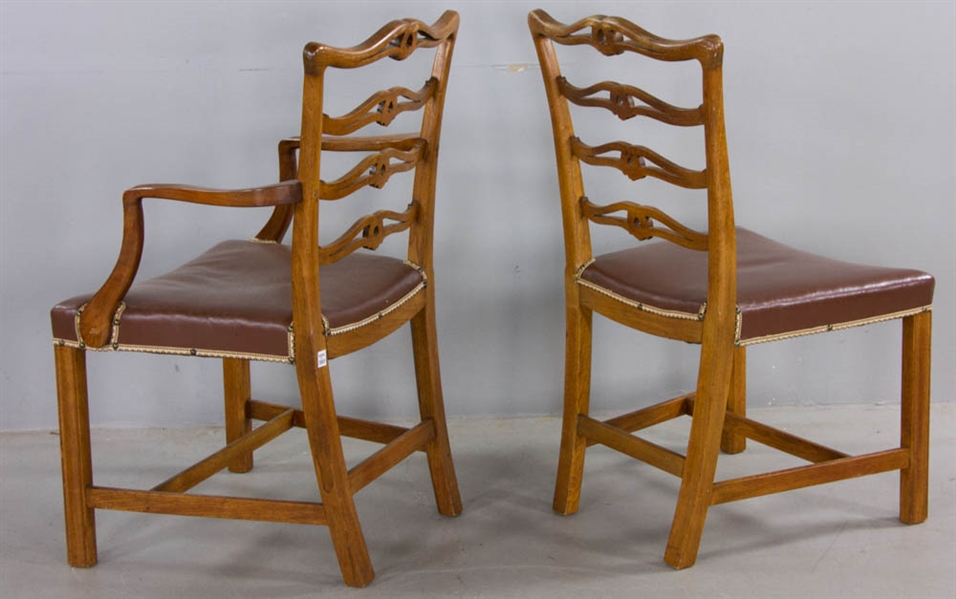 Set of Antique Chippendale Style Chairs