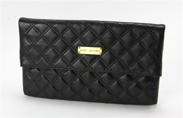 Marc Jacobs Clutch Black Leather Handbag