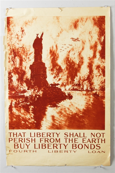 (11) US World War I War Bond Posters