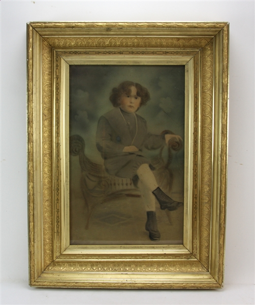 American Victorian Gilt Gesso Wood Frame