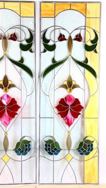 Stained and Leaded Glass Panel