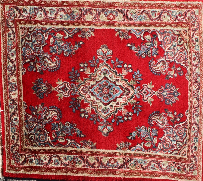 Semi Antique Persian Kazvin Rug