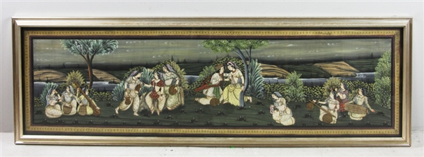 Indian Courtship Hand Painted