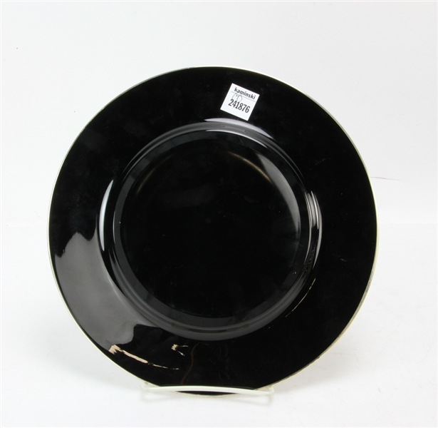 Set of Black Glass Plates