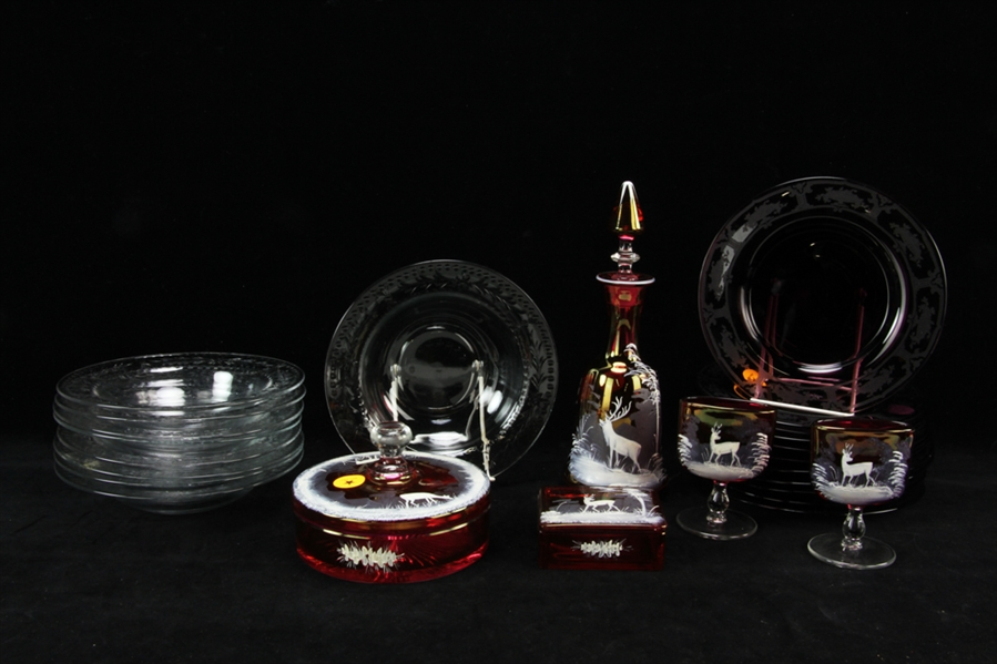 Collection of Miscellaneous Glass Items