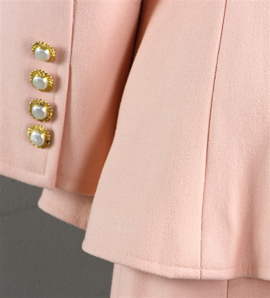 Vintage Peach Color Wool Suit
