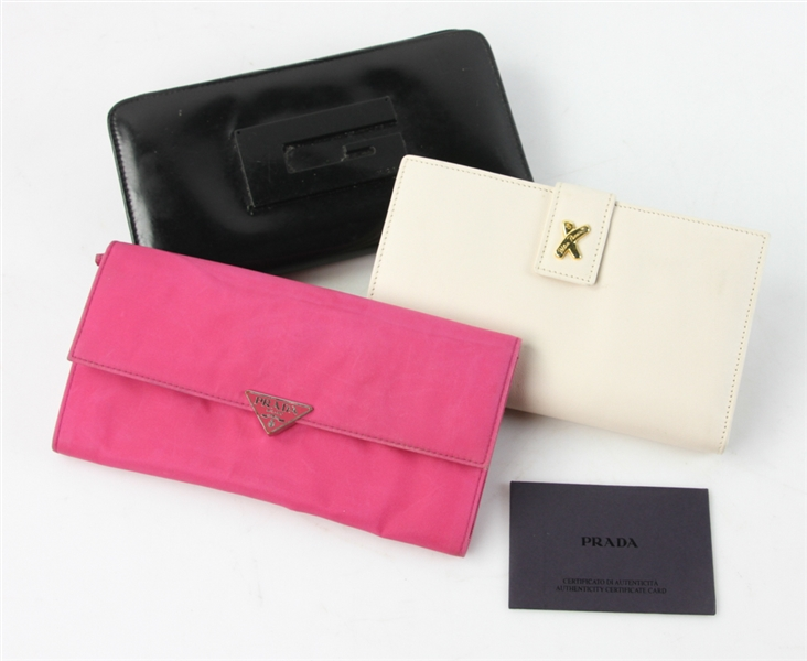 Gucci, Paloma Picasso, and Prada Wallets