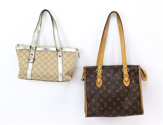 Gucci and Louis Vuitton Handbags