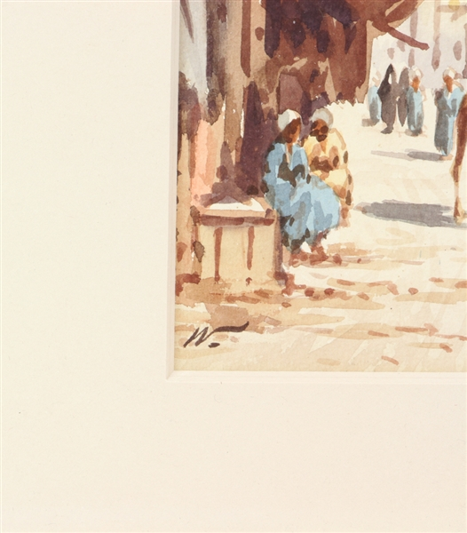 Edwin Lord Weeks, The Marketplace, Watercolor