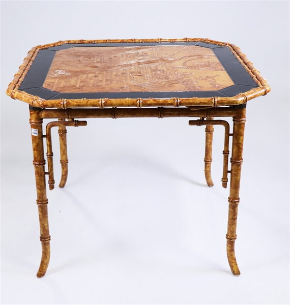 Faux Bamboo Game Table