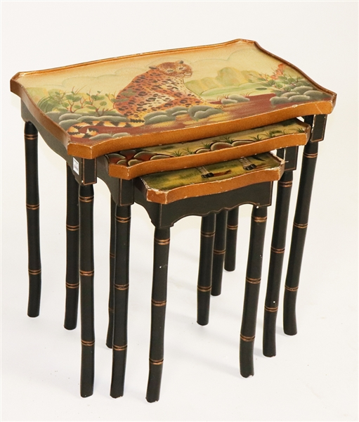 Nest of (3) Tables with Animal Motif