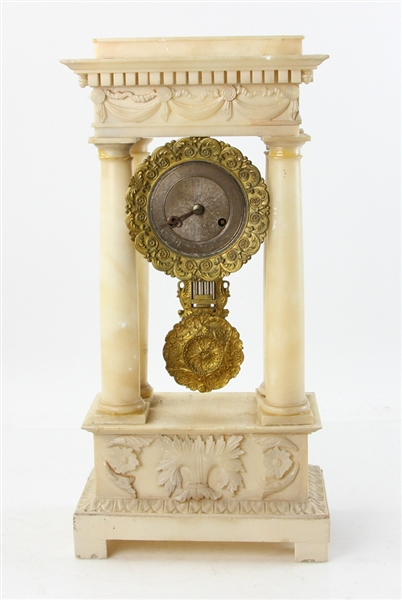 19thC French Marble Clock