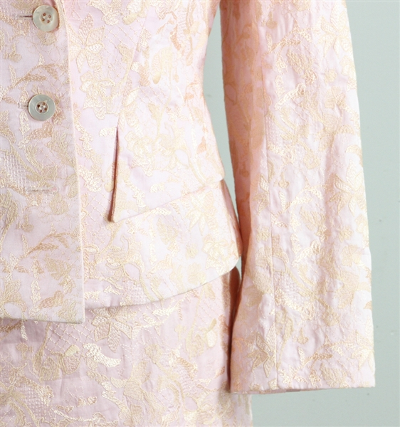 Christian LaCroix Embroidered Pink Suit