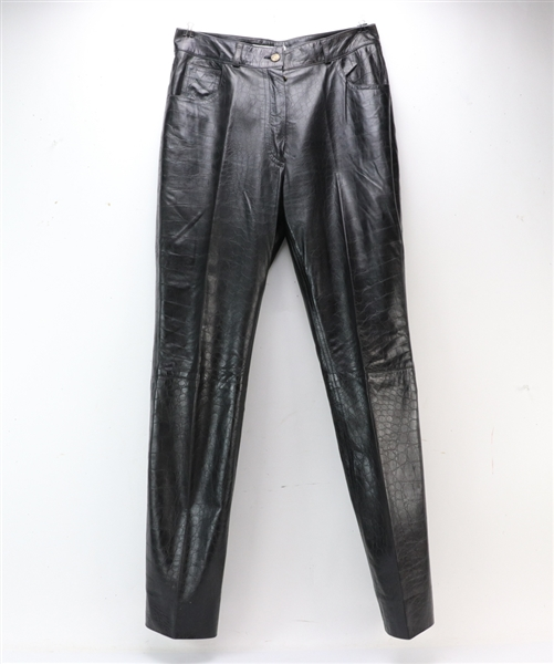 Christian Dior Black Leather Pants