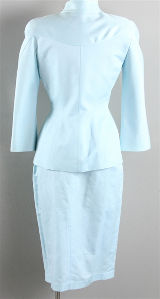 Thierry Mugler Vintage Pale Blue Jacket/Skirt Suit
