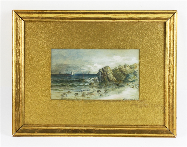 M.H. Hardwick, New England Seascape, Watercolor