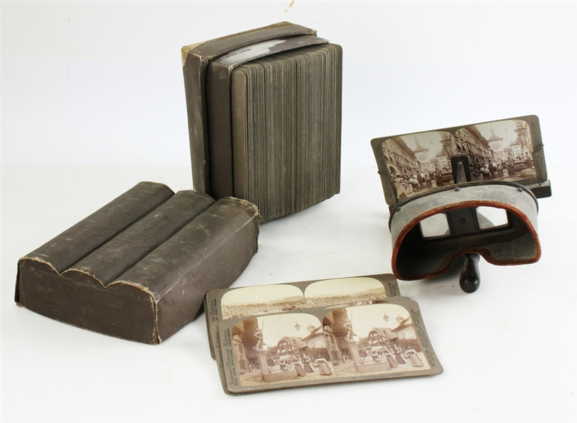 (100) Stereoview Cards