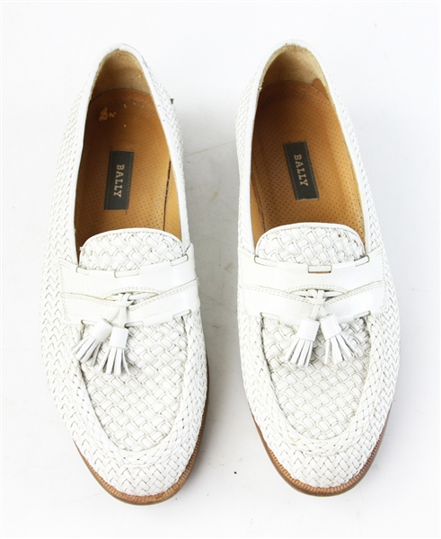 Bally Men's White Leather Shoes