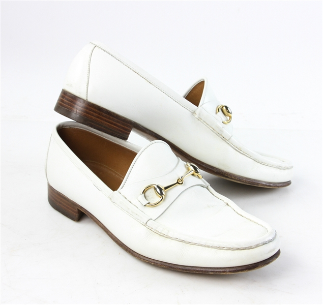 Gucci Men's White Leather Shoes