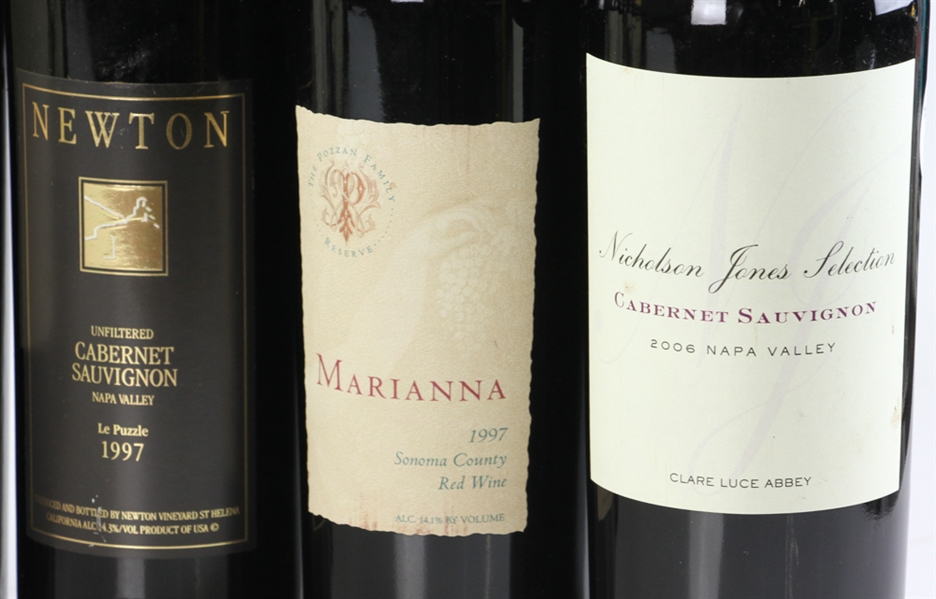 Group of Assorted California Wines