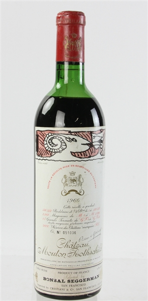 Chateau Mouton Rothschild, 1966