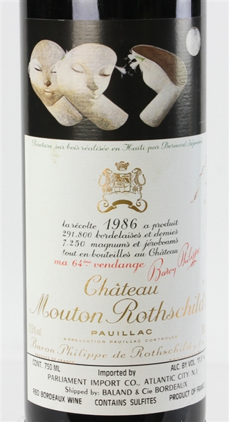 Chateau Mouton Rothschild, 1986