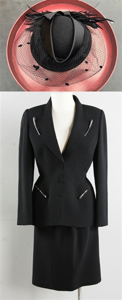 Mugler Peplum Suit with Hat