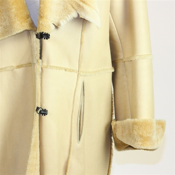 Italian Couture Luxury Camel Color Shearling Coat