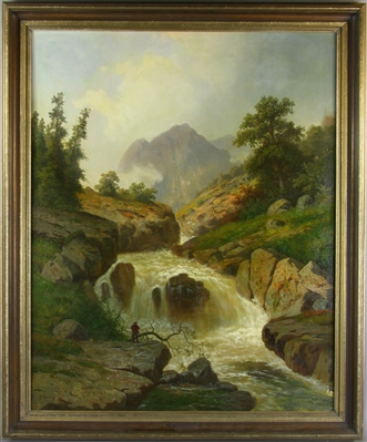 Signed H Herzog, Landscape, Oil on Canvas