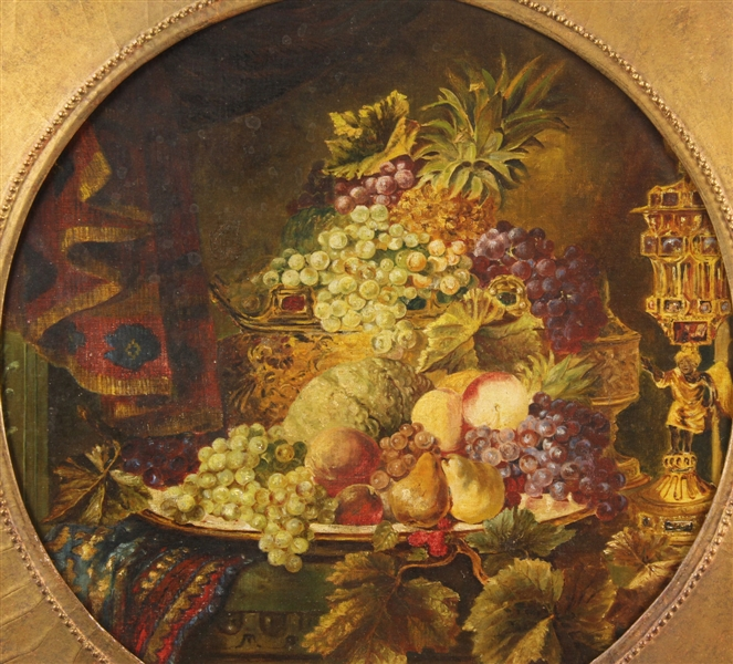 Still Life of Fruits Attr to Severin Roesen