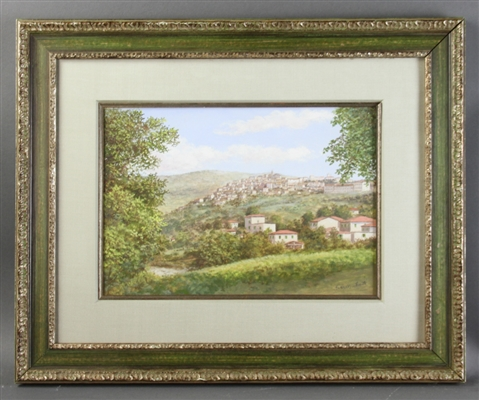 Francis Smith, Village View, Watercolor