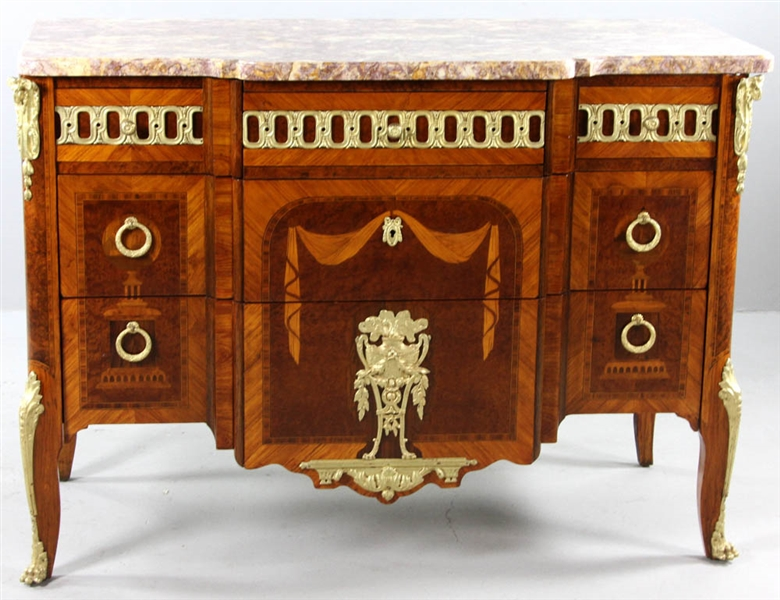 C1880 Louis XV/XVI Transitional Chest