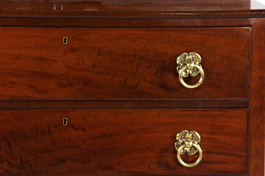 C1830 American Federal Mahogany Chest