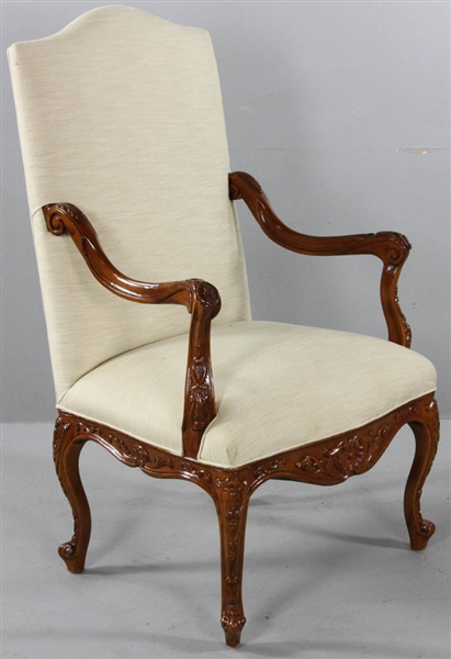 French Regency-Style Walnut Armchair