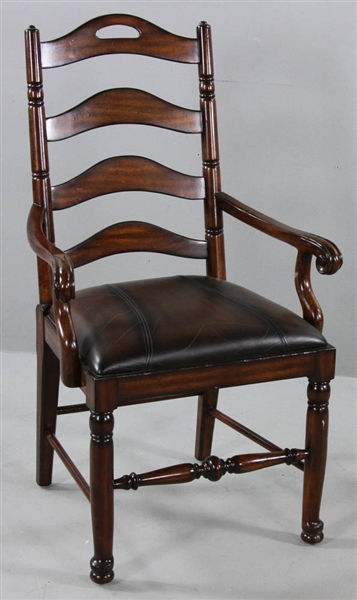 English-style Mahogany Ladder-Back Armchair